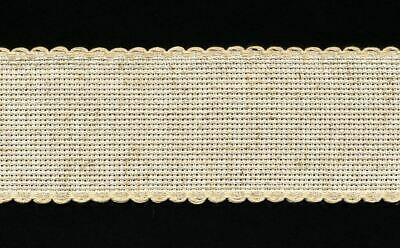 Zweigart 1 Metre Hessian Aida Band 5cm/2 Inch With a Scalloped Edging