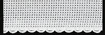 Zweigart 1 Metre White Aida Band 5cm/2 Inch With a White Scalloped Edging