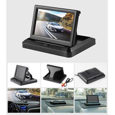 5 Inch Foldable Car Rear View Monitor Reserving LCD Display Vehicle Camera PA