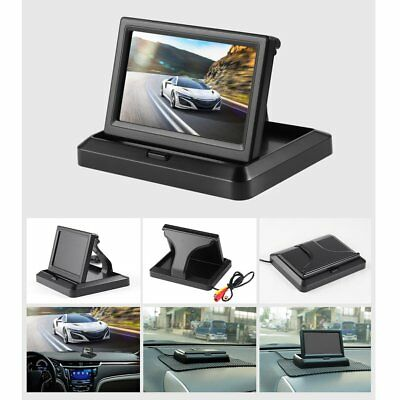 5 Inch Foldable Car Rear View Monitor Reserving LCD Display Vehicle Camera PC