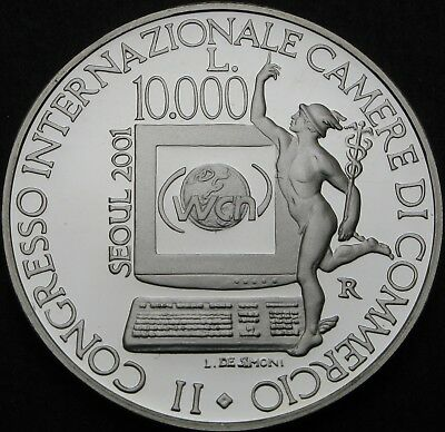 SAN MARINO 10000 Lire 2001R Proof - Silver - Chambers of Commerce - 969 ¤