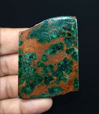 186.70 Cts.100 % Natural Bright Malachite Chrysocolla Rough Slice For Cabochons