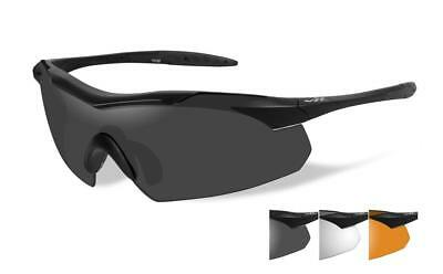 Wiley X Vapor Tactical Glasses 3 Lens Grey/Clear/Light Rust Free P&P Item 3502