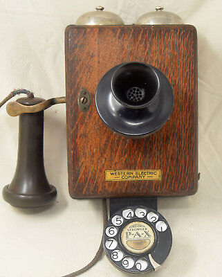 Antique Western Electric 293A Wood Wall Telephone