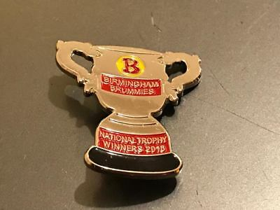 Birmingham Brummies Nt Winners-2016-Speedway Badge--Silver Metal--Rare--Sell Out