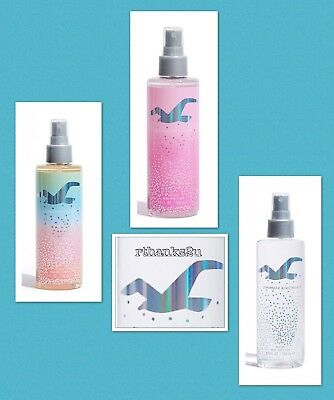 HOLLISTER LIMITED EDITION BODY MIST / BODY SPRAY - 3 Scents  236mls - New