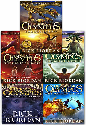 Heroes of Olympus 5 Books Collection Set By Rick Riordan inc Lost Hero, Son of