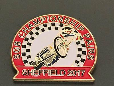 Championship Pairs 2017---Sheffield-- Speedway Badge---Gold Metal(Red)