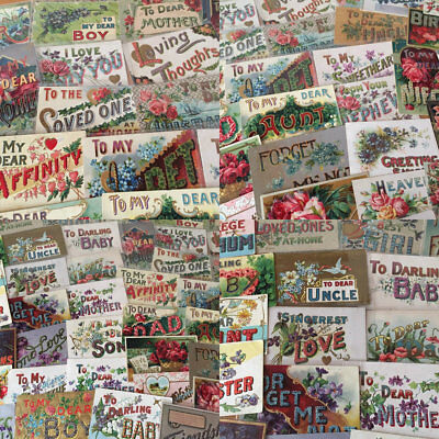 Huge Estate  Lot of  Family Greetings,To Dear Large Letter Antique Postcards-j75