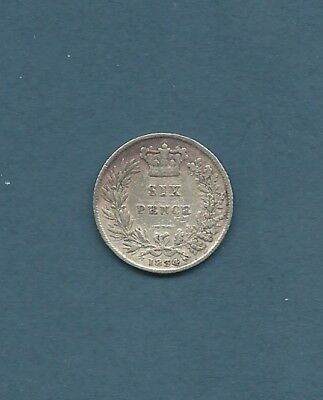 William IV 1834 sixpence - Nice Condition Coin