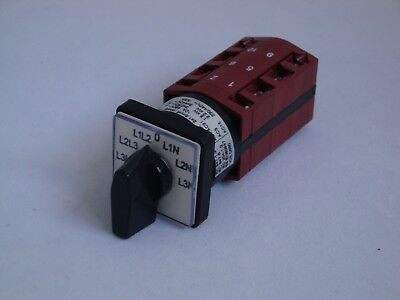 Cam Switch 10A Voltmeter Switch 30 degree switching