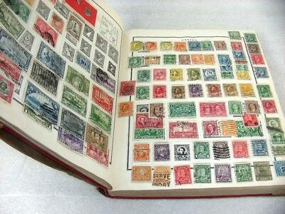 US/WW, BRITISH COLONIES, 4000+ Stamps hinged in a 1930 Scott Modern album