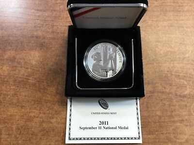 2011 September 11 National Medal - Us Mint Silver Proof!