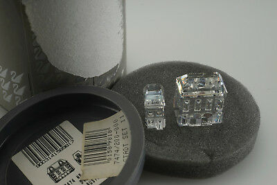 Swarovski Crystal Figurine - TWO HOUSES - 7474 200 000 City Town Building Signed