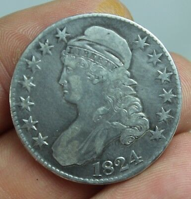 1824 Capped Bust Half Dollar SILVER COIN