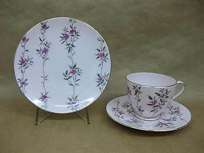 Vintage Tuscan Fine English Bone China Trio ~ Maid Marion ~ Pink Roses on Pink