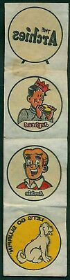 """1969 """"The Archies"""" Post Crispy Critters Iron-On/Rub-On Transfers Premiums"""