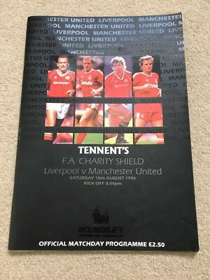 Liverpool Vs Manchester United - Fa Charity Shield - 1990