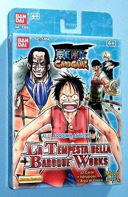 ONE PIECE CARD GAME Mazzo Base (Variante D) LA TEMPESTA DELLA BAROQUE WORKS