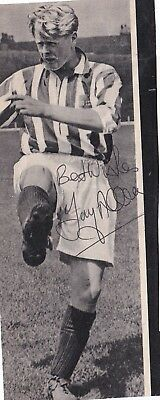 Signed Tony Allen Stoke City Second Division Champions Bury England 1950s 1960s