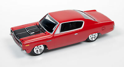 1/64 JOHNNY LIGHTNING MUSCLE SERIES 1 1970 Rebel Machine in Red with Black Graph
