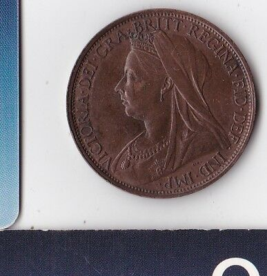 United Kingdom - Great Britain - England - HM Queen Victoria - One Penny - 1897
