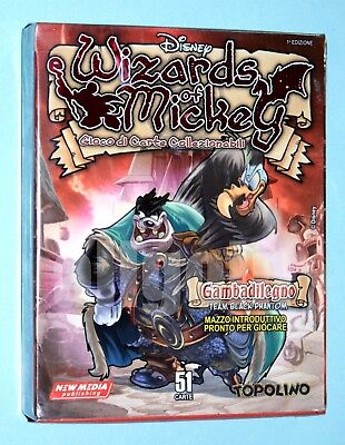 WIZARDS OF MICKEY GCC Mazzo Base GAMBADILEGNO TEAM BLACK PHANTOM NUOVO SIGILLATO