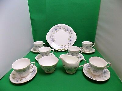 Colclough Rhapsody in Blue Tea Set