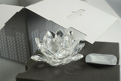 Swarovski Crystal Candle Holder LARGE WATERLILY 7600 125 000 119747 Water Lily