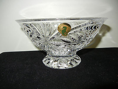 """Waterford Crystal """"tracy"""" Footed Bowl - 6.5"""" - New In The Box"""