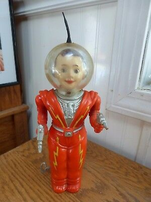 Vintage Retro 1950s Irwin Astronaut Space boy wind up toy red suit