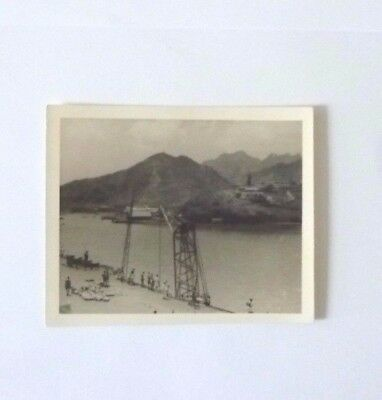 "Loading Stores onto HMS Implacable in Aden.Aircraft Carrier Original Photo 5""x4"""
