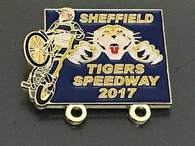 Sheffield Tigers--- 2017---- Speedway Badge---Gold Metal