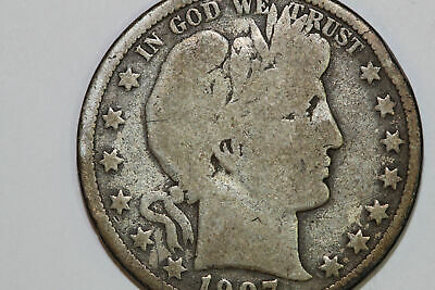 Grades Very Good 1907 O Barber 90% Silver Half Dollar (BARH458)