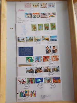 GB Fdc Collection 1981 to 1989 - 75+ Clean Covers & Typed Addresses - Cat £200+