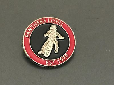 Peterborough Panthers----Loyal---Est 1970---- Speedway Badge---Silver Metal