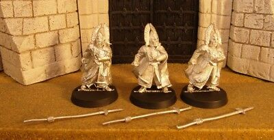 GUARDS OF THE FOUNTAIN COURT - Lord Of The Rings 3 Metal Figure(s)