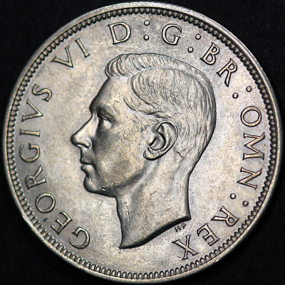 1940 George VI Silver Half Crown - Very High Grade Scarcer Date