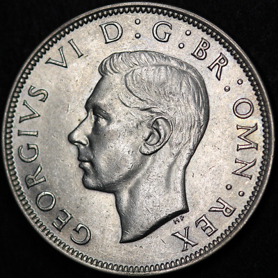 1945 George VI Silver Half Crown - Extremely High Grade