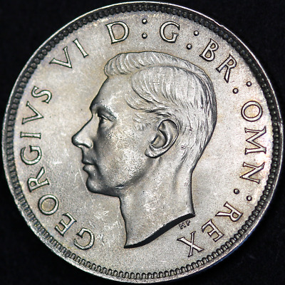 1944 George VI Silver Florin - Extremely High Grade and Toned