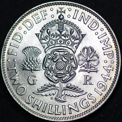 1944 George VI Silver Florin - Extremely High Grade