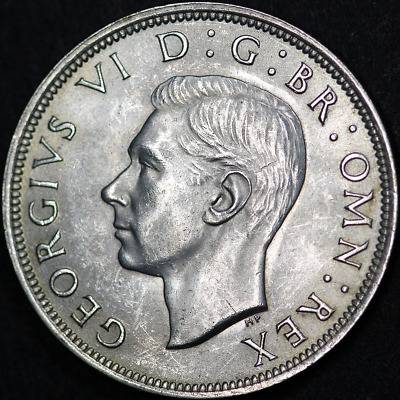 1944 George VI Silver Half Crown - Extremely High Grade / Practically As Struck