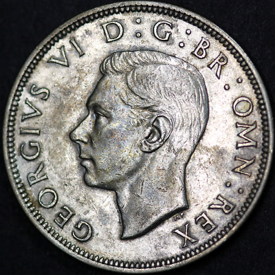 1938 George VI Silver Half Crown - Very High Grade Scarce Date