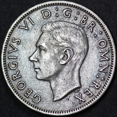 1937 George VI Florin / Two Shillings - Scarce Date