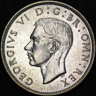 1942 George VI Silver Florin - Extremely High Grade