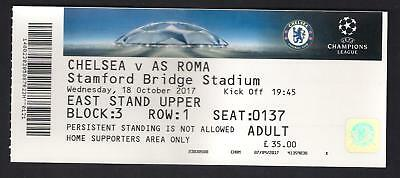 Chelsea v AS Roma - Ticket - UEFA Champions League, 18 October 2017
