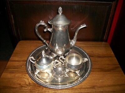 International Silver-Plated Tea or Coffee set with tray