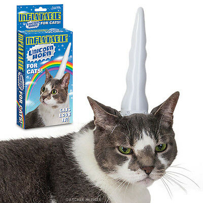Inflatable Unicorn Horn for Cats- Funny Novelty- Pet Lovers- Cat Fun-Unicorn NEW