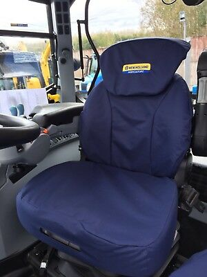 New Holland T6000 T6. T7. TSA Grammer Seat Cover navy with logo Includes VAT