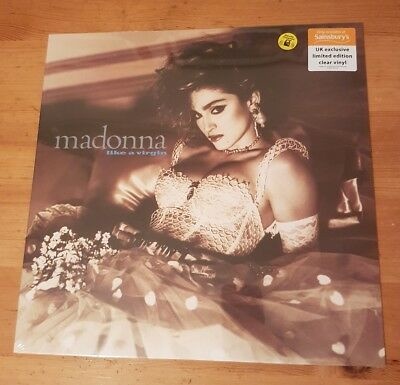 Madonna Like A Virgin UK Exclusive Clear Vinyl Brand New and Sealed